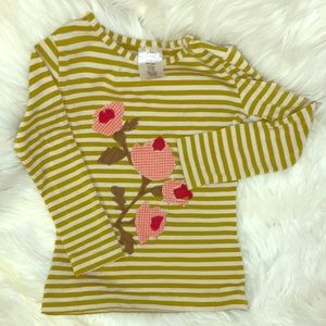 Persnickety Long Sleeve Flower Patch Top 3T